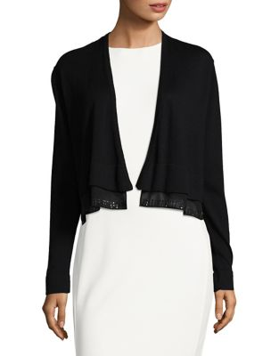 Open-Front Contrast Cardigan by Tommy Hilfiger