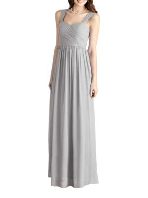 Bailey Side Draped Sleeveless A-Line Gown by Donna Morgan