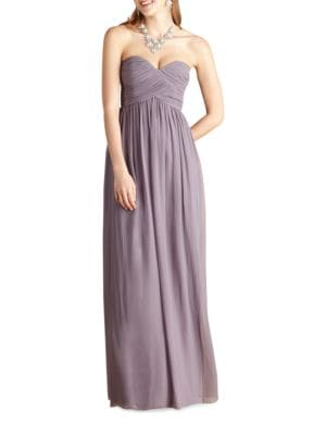 Laura Solid Strapless Gown by Donna Morgan