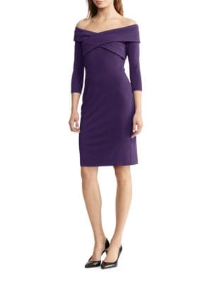 Off-The-Shoulder Jersey Sheath Dress by Lauren Ralph Lauren