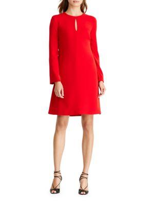 Bell Sleeve A-Line Dress by Lauren Ralph Lauren