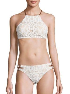 Coach Halter Bikini Top by Nanette Lepore