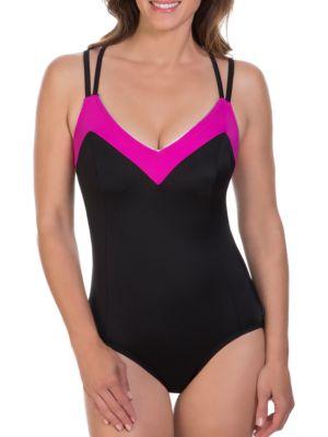 Feeling Flexible One-Piece Swimsuit by Reebok