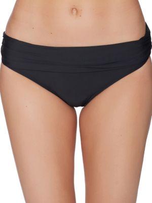 Cabana Solids Lani Banded Bikini Bottom by Athena