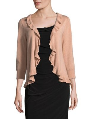 Ruffled Open-Front Cardigan by Ivanka Trump