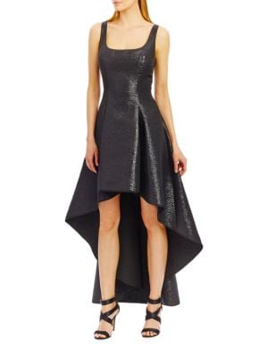 Sleeveless High-Low Fit and Flare Dress by Nicole Miller New York