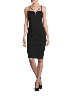 Spaghetti Double Hardware Dress by Guess