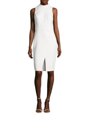 Mockneck Lace Sheath Dress by Guess