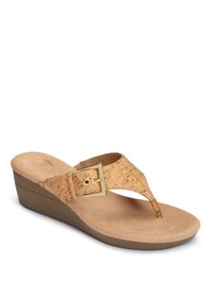 Flower Cork Slip-On Sandals by Aerosoles