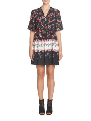 Elise Tie Neck Floral Printed Dress by Cece