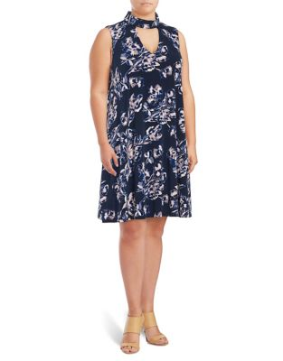 Printed Mockneck Dress by Ivanka Trump