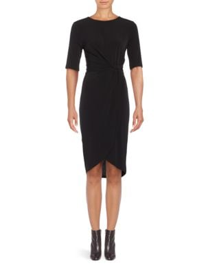 Three Quarter Sleeve Knit Sheath Dress by Ivanka Trump