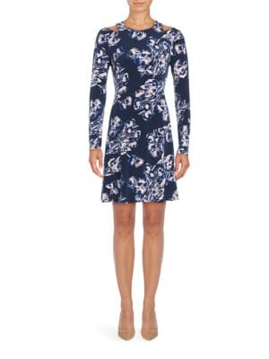 Floral Knit A-Line Dress by Ivanka Trump