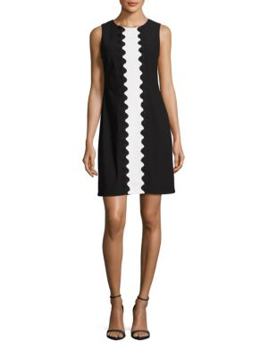 Sleeveless Center Stripe Shift Dress by Taylor