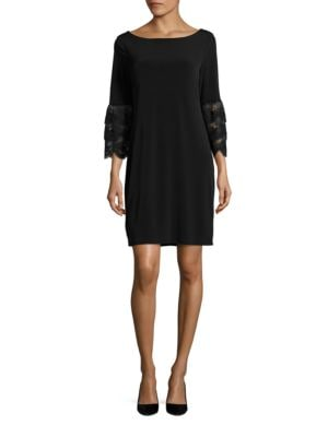 Lace Sleeve Shift Dress by Ivanka Trump