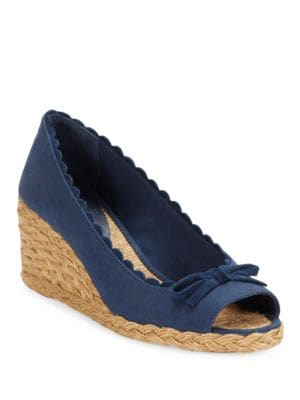 Chaning Peep Toe Espadrille Wedges by Lauren Ralph Lauren