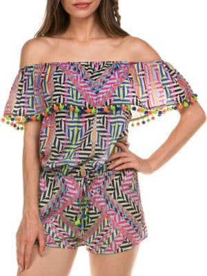 Swahili Off-The-Shoulder Jumpsuit by Isabella Rose