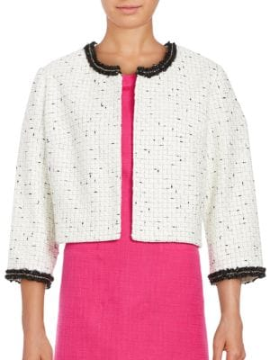 Textured Open-Front Jacket by Karl Lagerfeld Paris