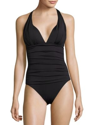Pearl Solids Pleated One-Piece by Tommy Bahama