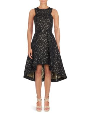 Star Jacquard Hi-Lo Dress by Shoshanna