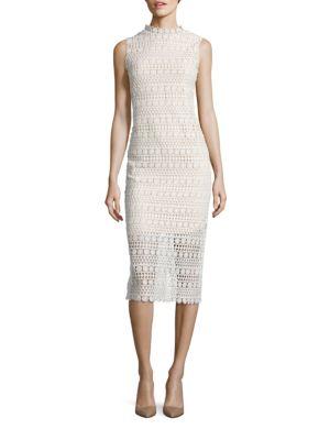Geometric Lace Bodycon Dress by Shoshanna