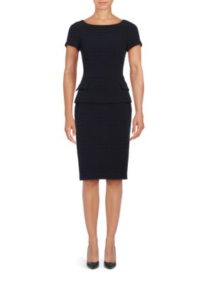 Checked Slim-Fit Skirt by Badgley Mischka