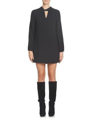 Cutout Long-Sleeve Shift Dress by Cynthia Steffe