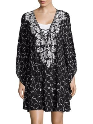 Embellished Cover-Up Caftan by Amita Naithani