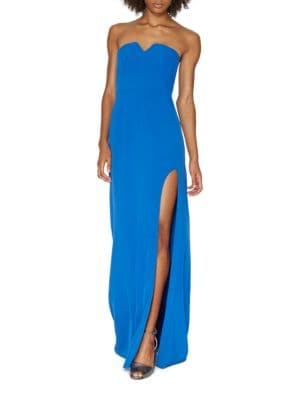 Strapless Slit Gown by Halston Heritage