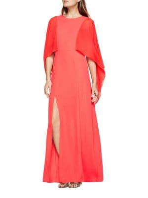 Doriana Cape-Sleeve A-Line Gown by BCBGMAXAZRIA