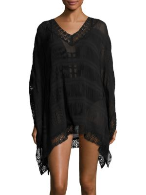 Crochet-Trimmed Cover-Up Caftan by Amita Naithani
