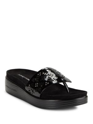 Fifi Perforated Thong Sandals by Donald J Pliner