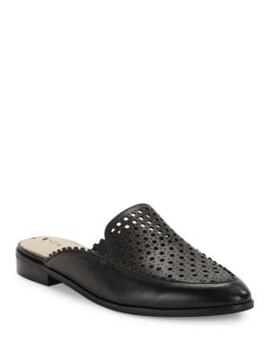 Adelina Cutout Leather Mules by Via Spiga