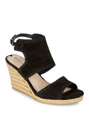 Izett Suede Slingback Wedges by Via Spiga
