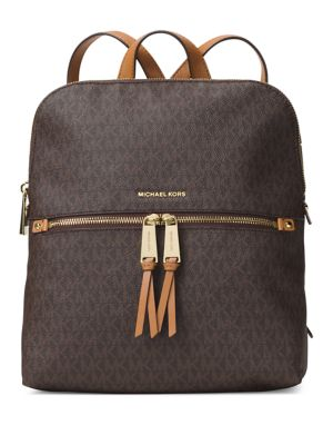 Rhea Zip Slim Logo Backpack...