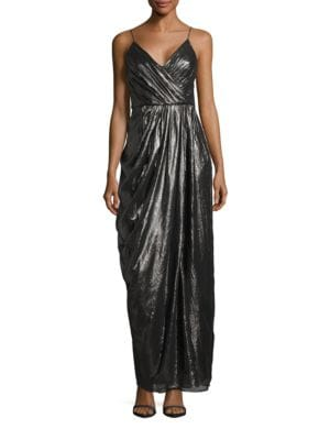 Metallic Chiffon Gown by Vera Wang