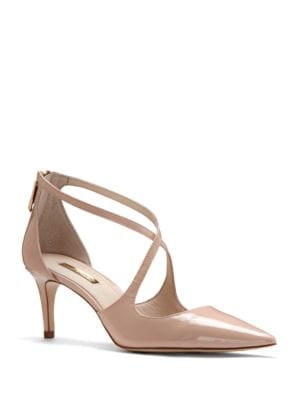 Jena Crossstrap Patent Leather Pumps by Louise et Cie