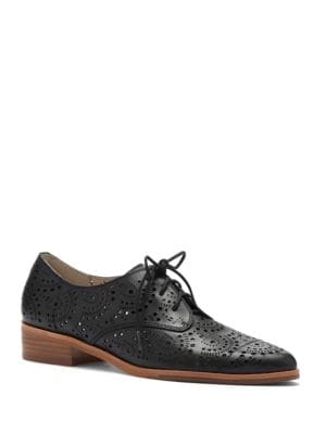 Annacis Perforated Leather Derby Shoes by Louise et Cie