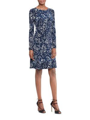 Printed Jersey A-Line Dress by Lauren Ralph Lauren