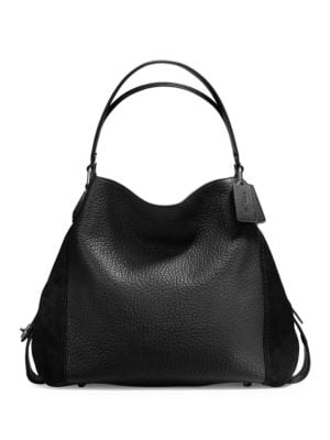 Edie Mixed Leather Shoulder...