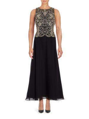 Petite Embellished Popover Gown by J Kara
