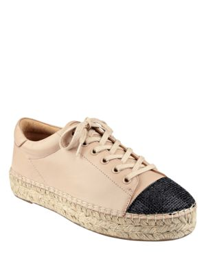 Joslyn Leather Cap Toe Espadrille Sneakers by KENDALL + KYLIE