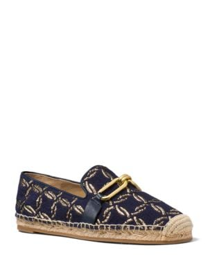 Lennox Metallic Embroidered Espadrille Flats by Michael Kors Collection