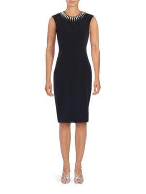 Embellished Sheath Dress 500049511439