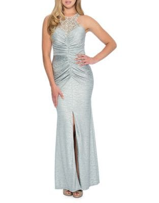 Embellished Racerback Bodycon Gown by Decode 1.8