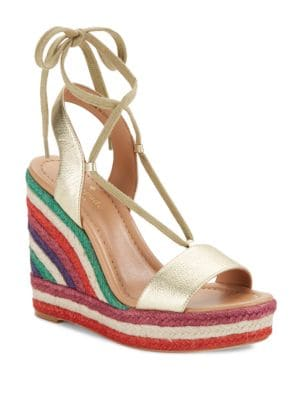 Daisy Too Leather Espadrille Wedge Sandals by Kate Spade New York