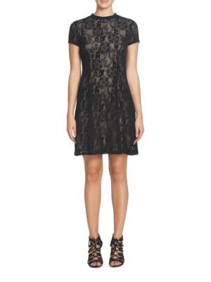 Annette Short Sleeve Lace A-Line Dress by Cynthia Steffe