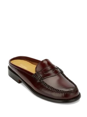 Wynn Pure Leather Penny Slider Mules by G.H. Bass
