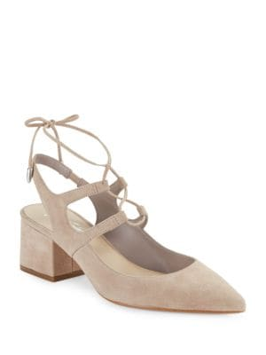 Photo of June Suede Slingbacks by 424 Fifth - shop 424 Fifth shoes sales