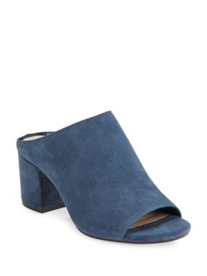 Open-Toe Suede Mules by 424 Fifth